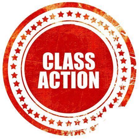class action, isolated red stamp on a solid white background Stock Photo