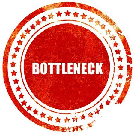 bottleneck: bottleneck, isolated red stamp on a solid white background