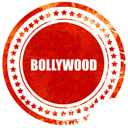 bollywood: bollywood, isolated red stamp on a solid white background Stock Photo
