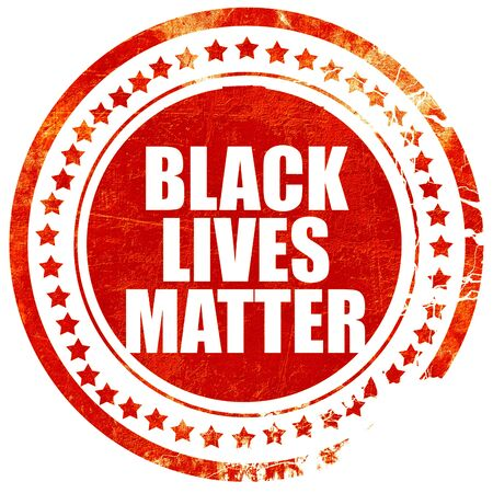matter: black lives matter, isolated red stamp on a solid white background