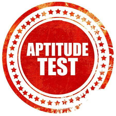aptitude: aptitude test, isolated red stamp on a solid white background Stock Photo