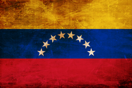 venezuelan flag: Venezuela flag with some soft highlights and folds