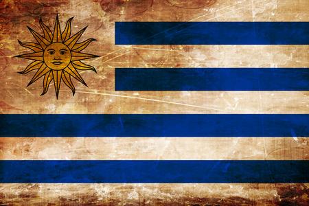 bandera uruguay: bandera de Uruguay con algunos toques de luz y suaves pliegues