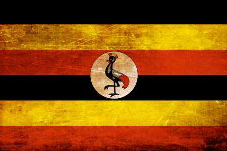 folds: Uganda flag with some soft highlights and folds