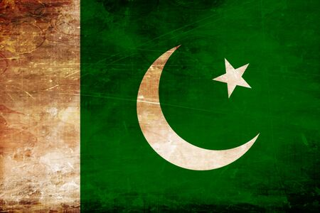 pakistan flag: Pakistan flag with some soft highlights and folds