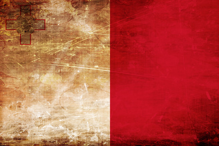 malta: Malta flag with some soft highlights and folds