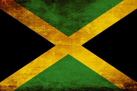 the sovereign: Jamaica flag with some soft highlights and folds Stock Photo