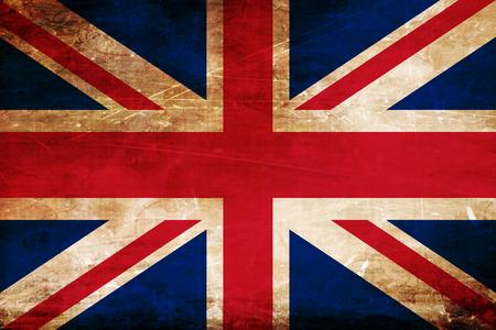 bandera de gran bretaña: Gran bandera de Gran Bretaña con algunos puntos culminantes suaves y pliegues