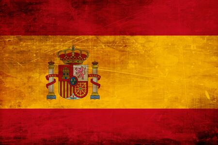 old flag: Spanish flag with some soft highlights and folds