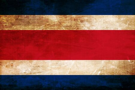 rican: Costa Rica flag with some soft highlights and folds