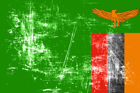 zambian: Zambia flag with some soft highlights and folds