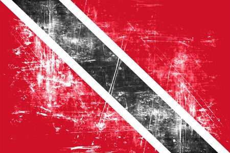 folds: trinidad flag with some soft highlights and folds