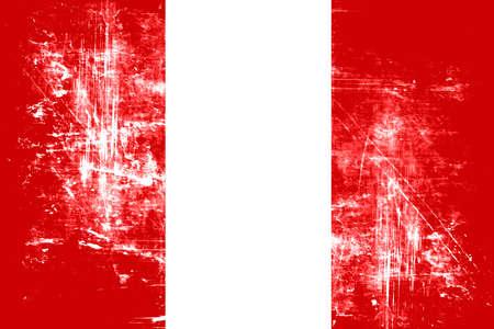 bandera de peru: Peru flag with some soft highlights and folds