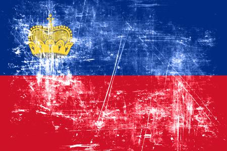 liechtenstein: Liechtenstein flag with some soft highlights and folds Stock Photo