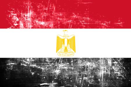 bandera de egipto: bandera de Egipto con algunos toques de luz y suaves pliegues