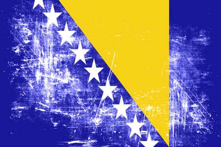 herzegovina: Bosnia and Herzegovina flag with some soft highlights and folds