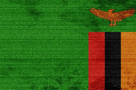 zambia: Zambia flag with some soft highlights and folds