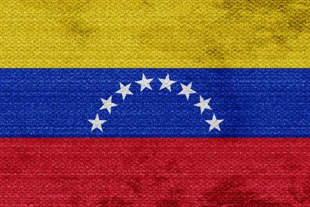 venezuela flag: bandera de Venezuela con algunos toques de luz suave y pliegues