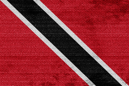 trinidad: trinidad flag with some soft highlights and folds