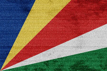 seychelles: seychelles flag with some soft highlights and folds