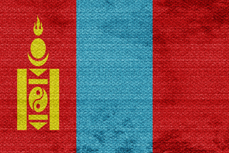 mongolia: Mongolia flag with some soft highlights and folds