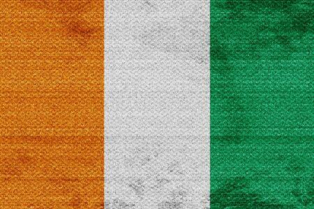ivory: Ivory coast flag with some soft highlights and folds