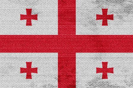 georgian: Georgia flag with some soft highlights and folds
