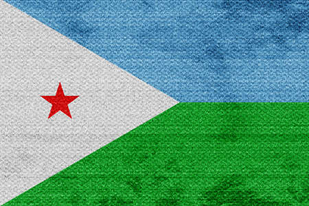 djibouti: Djibouti flag with some soft highlights and folds