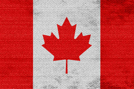 canadian state flag: Canada flag with some soft highlights and folds