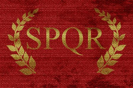 roma avec couronne de laurier et quelques lignes douces et lisses Banque d'images