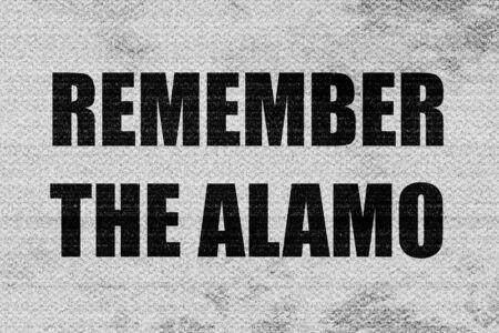 recordar: recuerde el �lamo Foto de archivo