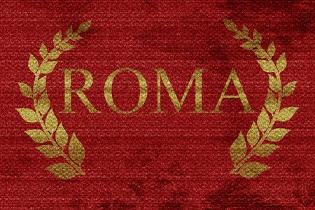 poet: roma with laurel wreath and some soft smooth lines