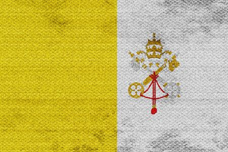 papal flag sign with some soft smooth lines