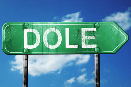 on the dole: dole road sign, on a blue sky background Stock Photo