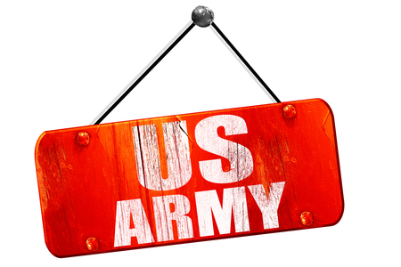 infantryman: us army, 3D rendering, red grunge vintage sign
