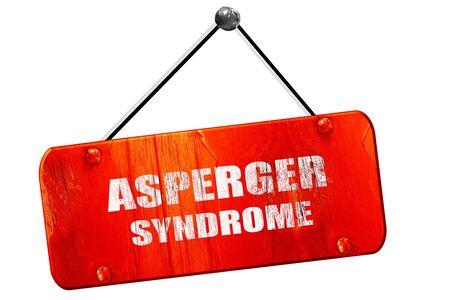 asperger syndrome: Asperger syndrome background, 3D rendering, red grunge vintage sign