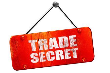 trade secret: trade secret, 3D rendering, red grunge vintage sign
