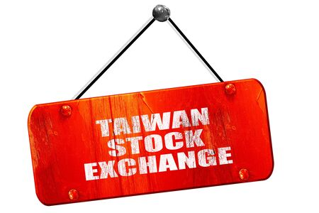 buy shares: taiwan stock exchange, 3D rendering, red grunge vintage sign Stock Photo