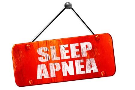seep: sleep apnea, 3D rendering, red grunge vintage sign Stock Photo