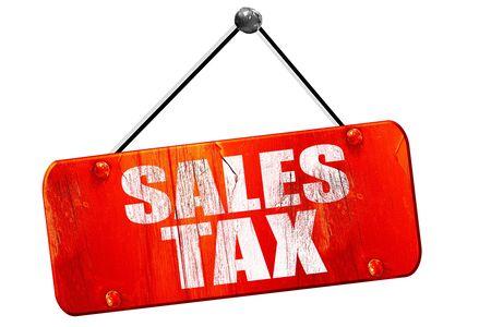 impuesto sobre las ventas, 3D, muestra de la vendimia del grunge rojo