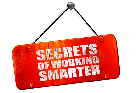 maximization: secrects of working smarter, 3D rendering, red grunge vintage sign Stock Photo