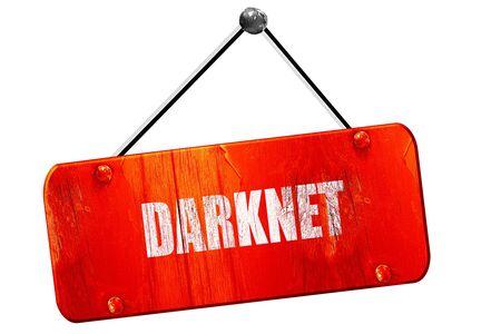 routing: Darknet internet background, 3D rendering, red grunge vintage sign