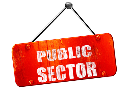 sector: public sector, 3D rendering, red grunge vintage sign Stock Photo