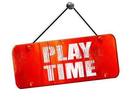 ni�os actuando: el tiempo de juego, 3D, muestra de la vendimia del grunge rojo