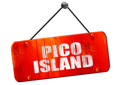 agriculture azores: pico island, 3D rendering, red grunge vintage sign