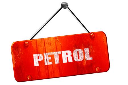 isolation tank: petrol, 3D rendering, red grunge vintage sign