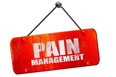 pain management: pain management, 3D rendering, red grunge vintage sign Stock Photo