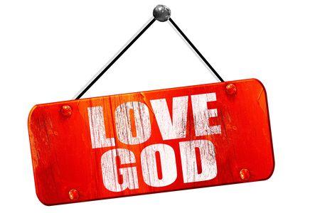 god 3d: love god, 3D rendering, red grunge vintage sign Stock Photo