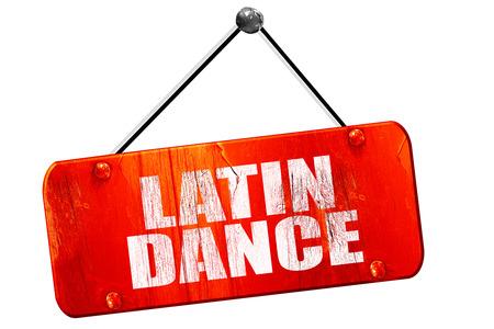 3d dance: latin dance, 3D rendering, red grunge vintage sign Stock Photo