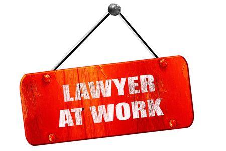 solicitor: lawyer at work, 3D rendering, red grunge vintage sign